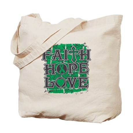 Liver Cancer Faith Hope Love Tote Bag
