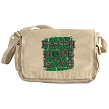 Liver Cancer Faith Hope Love Messenger Bag