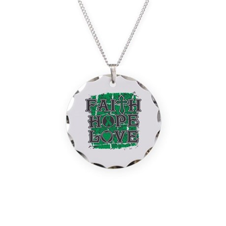 Liver Cancer Faith Hope Love Necklace Circle Charm