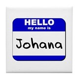 hello my name is johana  Tile Coaster
