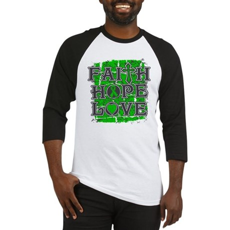 Kidney Cancer Faith Hope Love Baseball Jersey