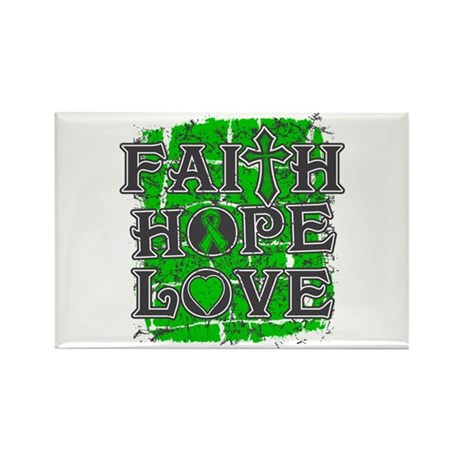 Kidney Cancer Faith Hope Love Rectangle Magnet