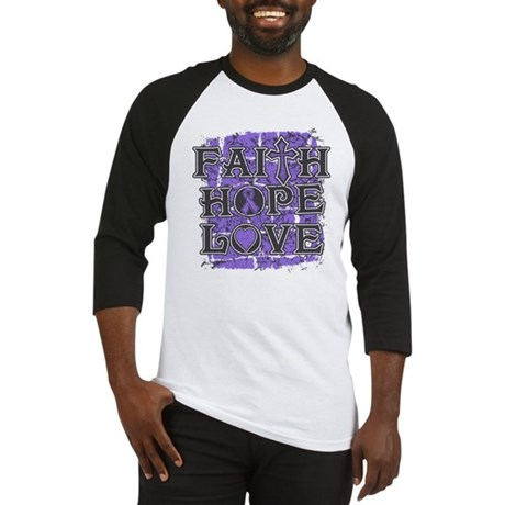 Hodgkins Lymphoma Faith Hope Love Baseball Jersey