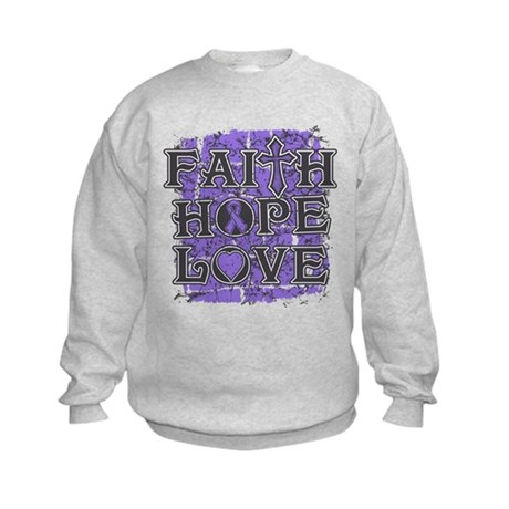 Hodgkins Lymphoma Faith Hope Love Kids Sweatshirt