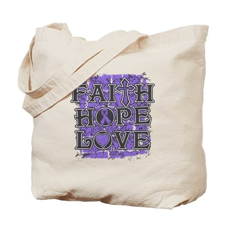 Hodgkins Lymphoma Faith Hope Love Tote Bag