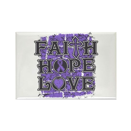 Hodgkins Lymphoma Faith Hope Love Rectangle Magnet