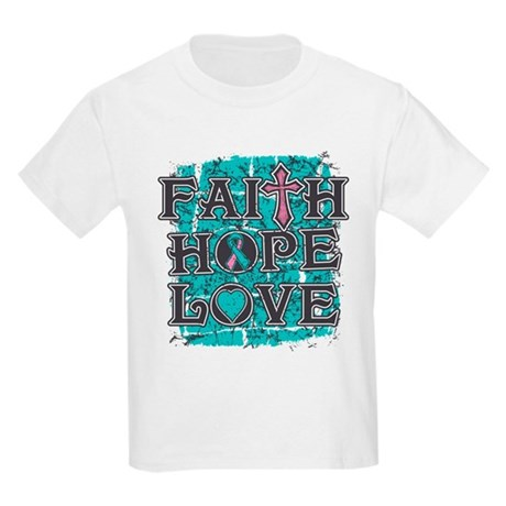 Hereditary Breast Cancer Faith Hope Kids Light T-S