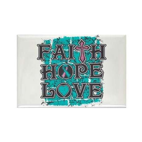 Hereditary Breast Cancer Faith Hope Rectangle Magn