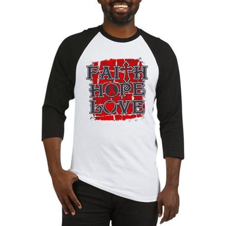 Heart Disease Faith Hope Love Baseball Jersey