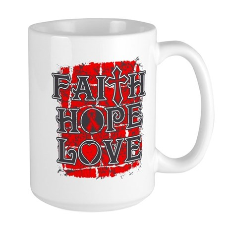 Heart Disease Faith Hope Love Large Mug