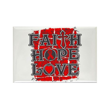 Heart Disease Faith Hope Love Rectangle Magnet