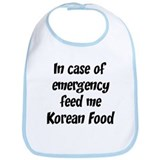 Feed me Korean Food Bib