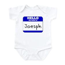 hello my name is joesph  Infant Bodysuit