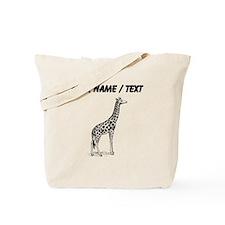 Custom Giraffe Sketch Tote Bag