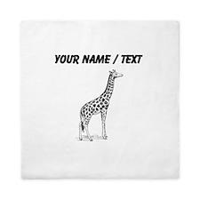 Custom Giraffe Sketch Queen Duvet