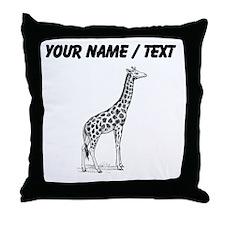 Custom Giraffe Sketch Throw Pillow