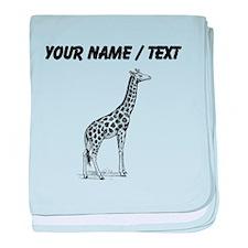 Custom Giraffe Sketch baby blanket