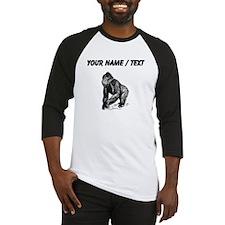 Custom Gorilla Sketch Baseball Jersey