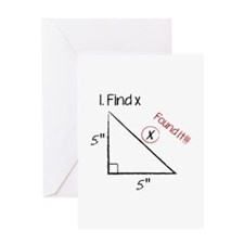Find X Greeting Card