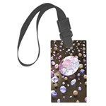 Diamonds and Pearls Large Luggage Tag