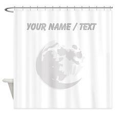Custom Full Moon Shower Curtain