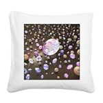 Diamonds and Pearls Square Canvas Pillow