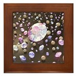 Diamonds and Pearls Framed Tile