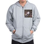 Diamonds and Pearls Zip Hoodie