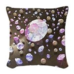 Diamonds and Pearls Woven Throw Pillow