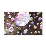 Diamonds and Pearls Rectangle Car Magnet