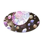 Diamonds and Pearls Oval Car Magnet