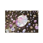 Diamonds and Pearls Rectangle Magnet (100 pack)