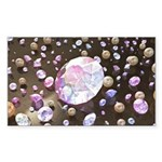 Diamonds and Pearls Sticker (Rectangle 50 pk)