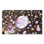 Diamonds and Pearls Sticker (Rectangle 10 pk)