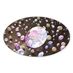 Diamonds and Pearls Sticker (Oval 50 pk)