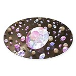 Diamonds and Pearls Sticker (Oval 10 pk)