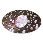 Diamonds and Pearls Sticker (Oval)