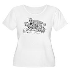 Cheetahs Sketch Plus Size T-Shirt