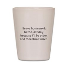 I Leave Homework To The Last Day Shot Glass