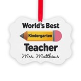 Kindergarten teacher Picture Frame Ornaments