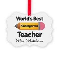 Personalized Kindergraten Teacher Ornament