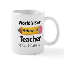 Personalized Kindergraten Teacher Mugs