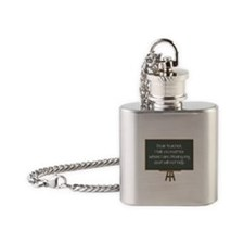 Dear Teacher Flask Necklace