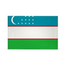 Uzbekistan Flag Rectangle Magnet