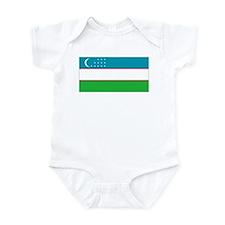 Uzbekistan Flag Infant Bodysuit