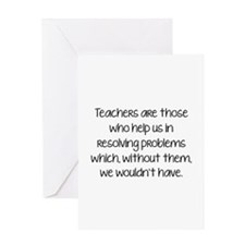 Teachers Are Those Who Help Us In Greeting Card