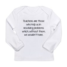 Teachers Are Those Who Help Us In Long Sleeve Infa