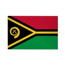 Vanuatu Flag Rectangle Magnet