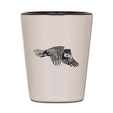 American Bald Eagle in Flight Shot Glass