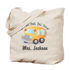 Personalized Bus Driver Tote Bag